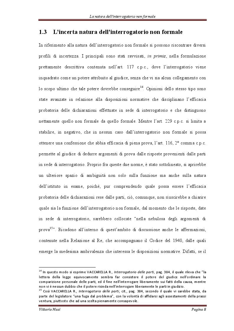 Estratto dalla tesi: L'interrogatorio non formale
