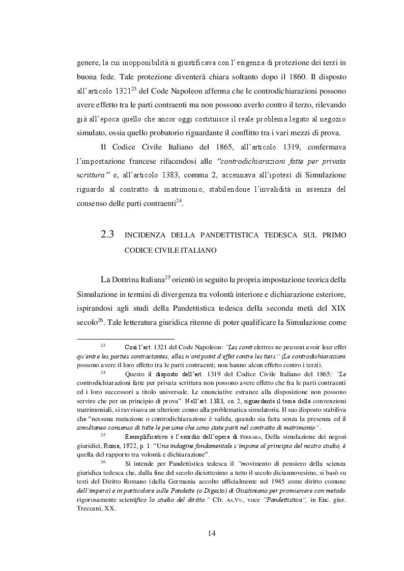 Estratto dalla tesi: La simulazione del contratto