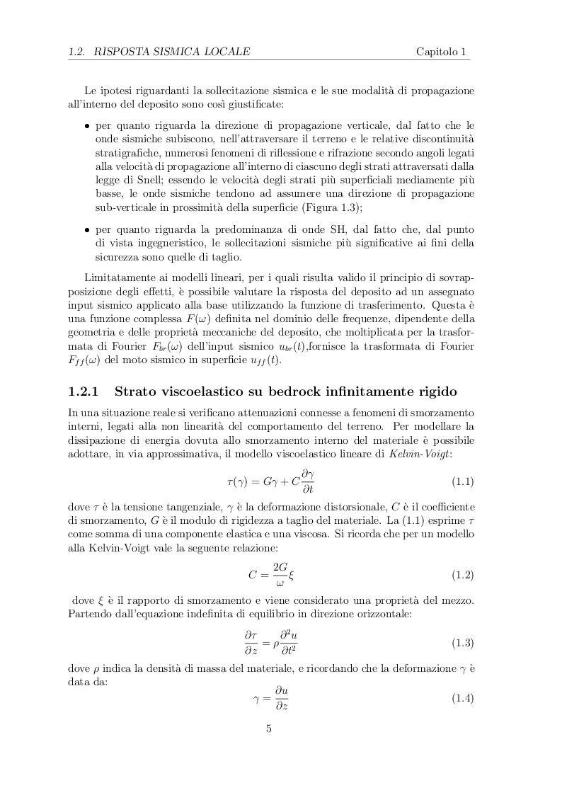 Estratto dalla tesi: Determinazione dell'effetto filtro in fondazioni interrate