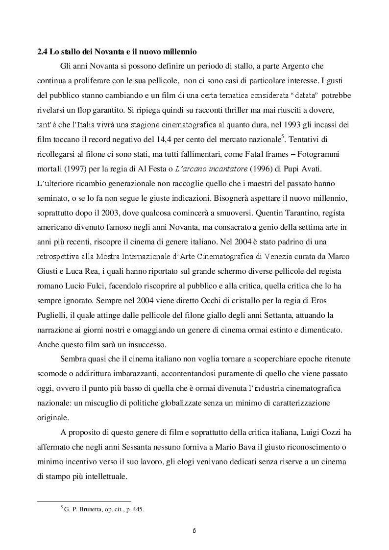 Estratto dalla tesi: La donna (h)a più facce - La figura della donna nel cinema horror italiano e americano