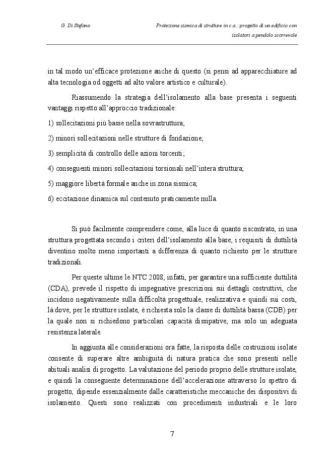 Estratto dalla tesi: Protezione sismica di strutture in c.a.: progetto di un edificio con isolatori a pendolo scorrevole