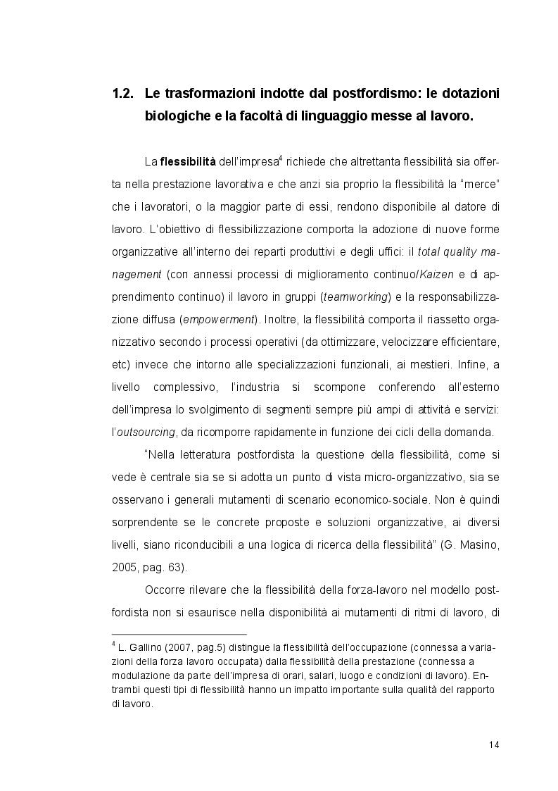 Estratto dalla tesi: Lavoro e Linguaggio