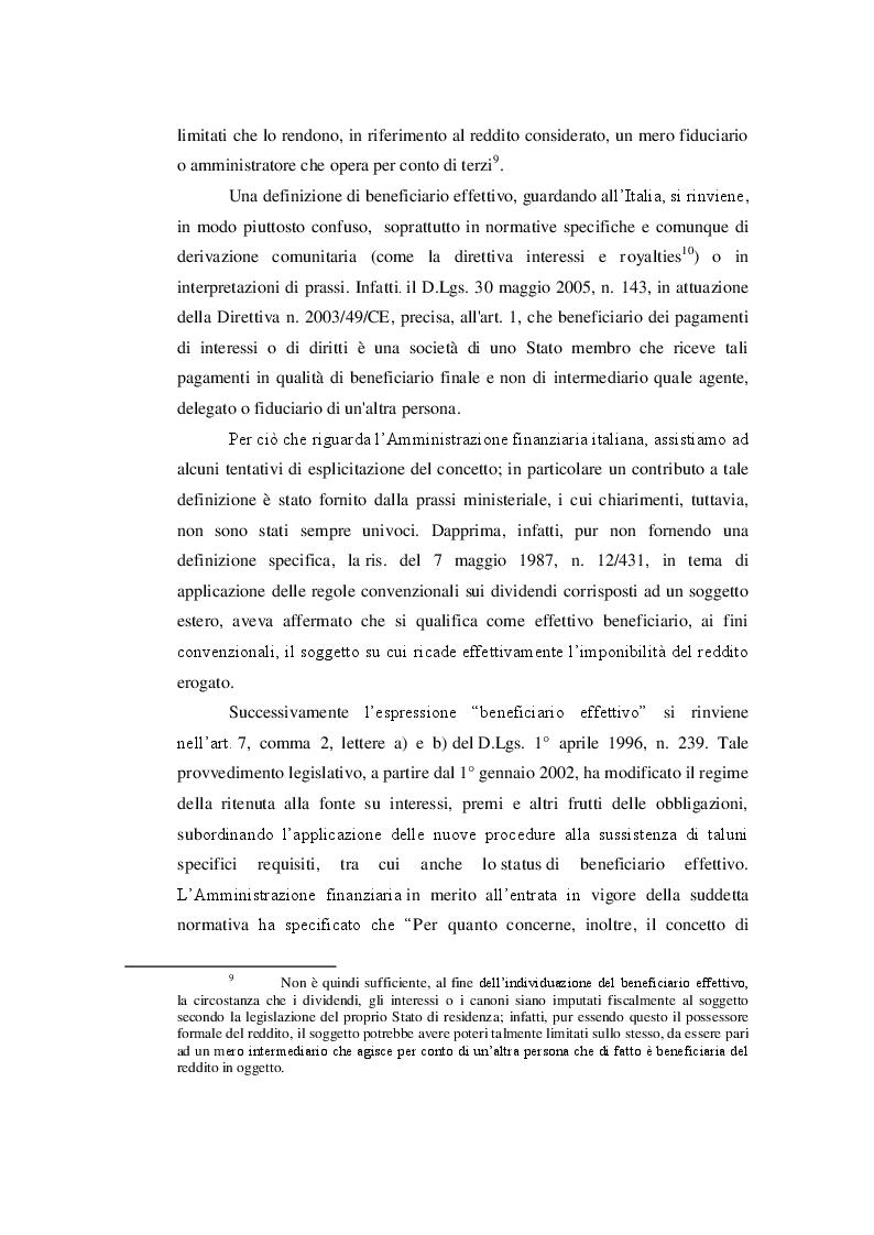 Estratto dalla tesi: Considerazioni in tema di beneficiario effettivo: il caso Indofood