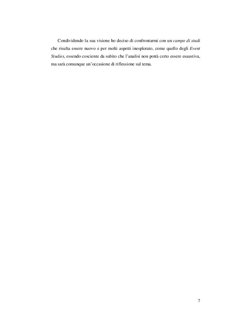 Anteprima della tesi: Event Studies: l'analisi dell'evento come risorsa strategica delle politiche urbane e territoriali, Pagina 6