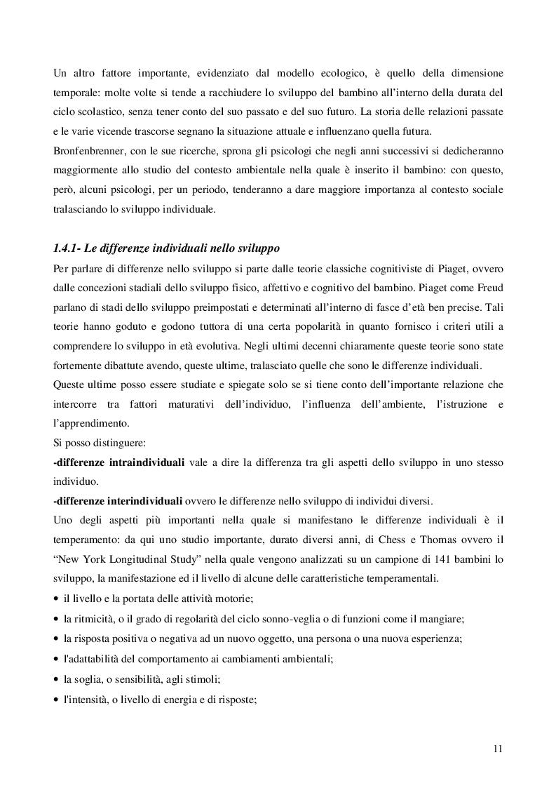 Estratto dalla tesi: Da Piaget a Vygotskij: analisi sull'educazione motoria nelle scuole d'infanzia del Veneto