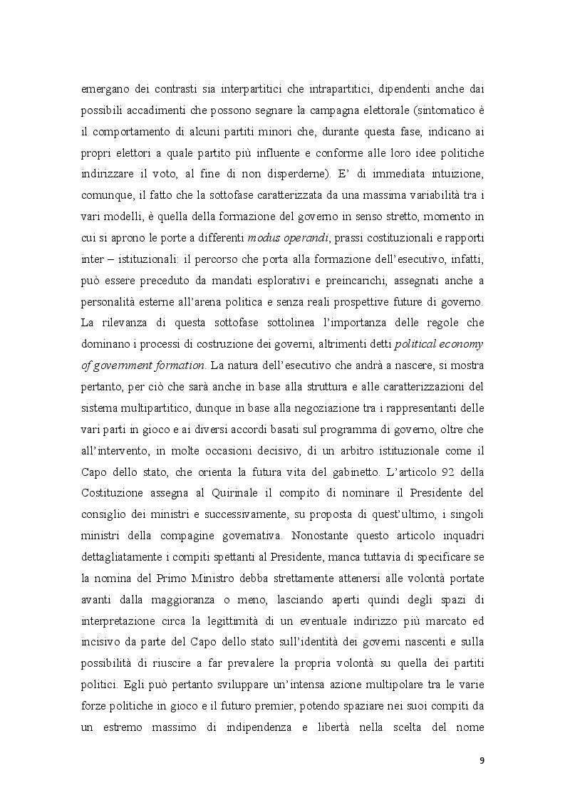 Estratto dalla tesi: Il caso Napolitano: il ruolo del Capo dello Stato nel sistema di governo italiano (2006 - 2013)