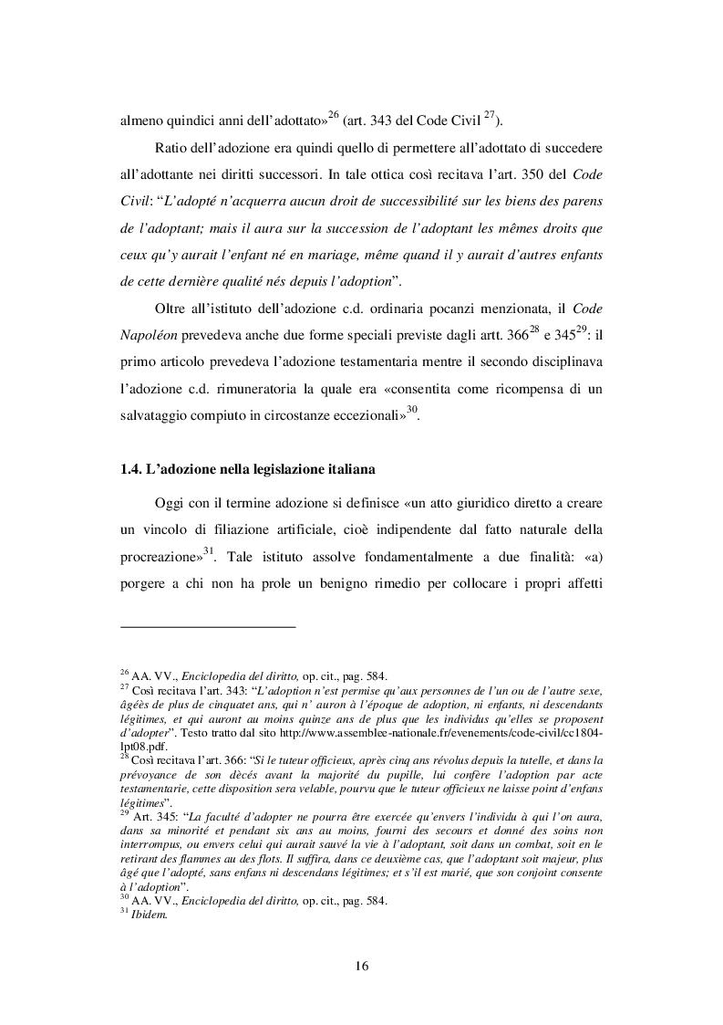 Estratto dalla tesi: La kafala e le adozioni internazionali nell'ordinamento giuridico italiano