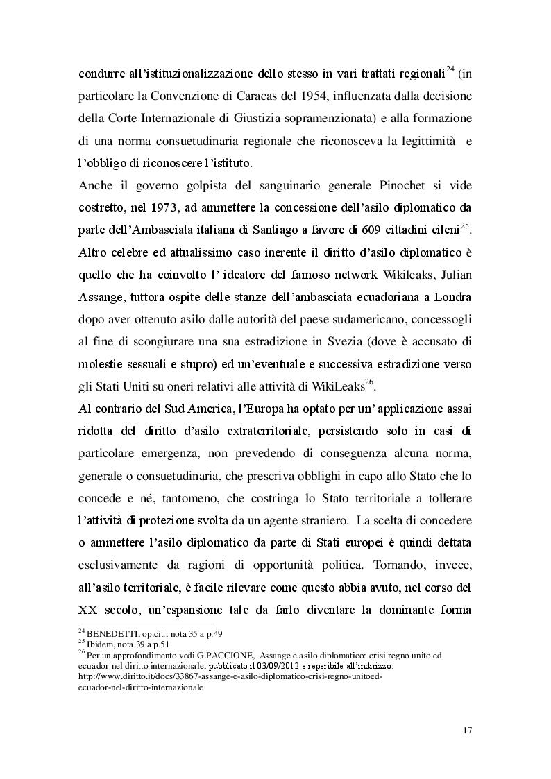 Estratto dalla tesi: Il diritto di asilo: evoluzione ed applicazione della tutela in Italia e all'Interno dell'Unione Europea
