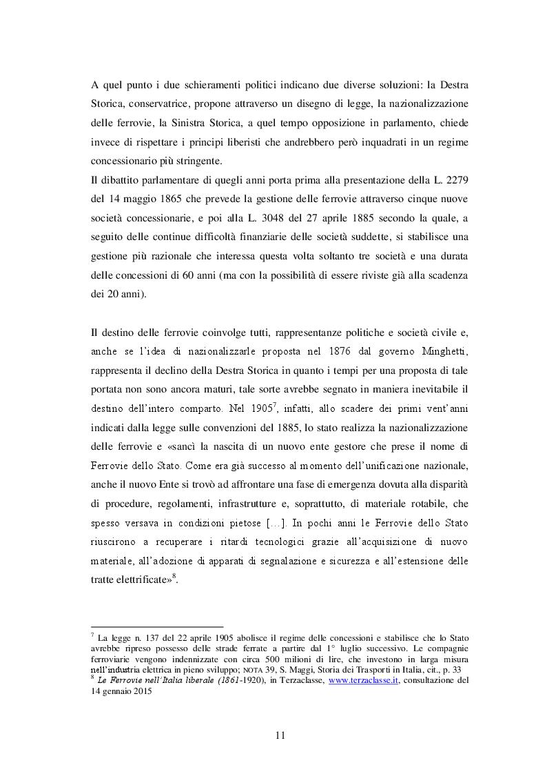 Estratto dalla tesi: Le Autostrade nella politica dei Trasporti italiana: Due studi di caso a confronto