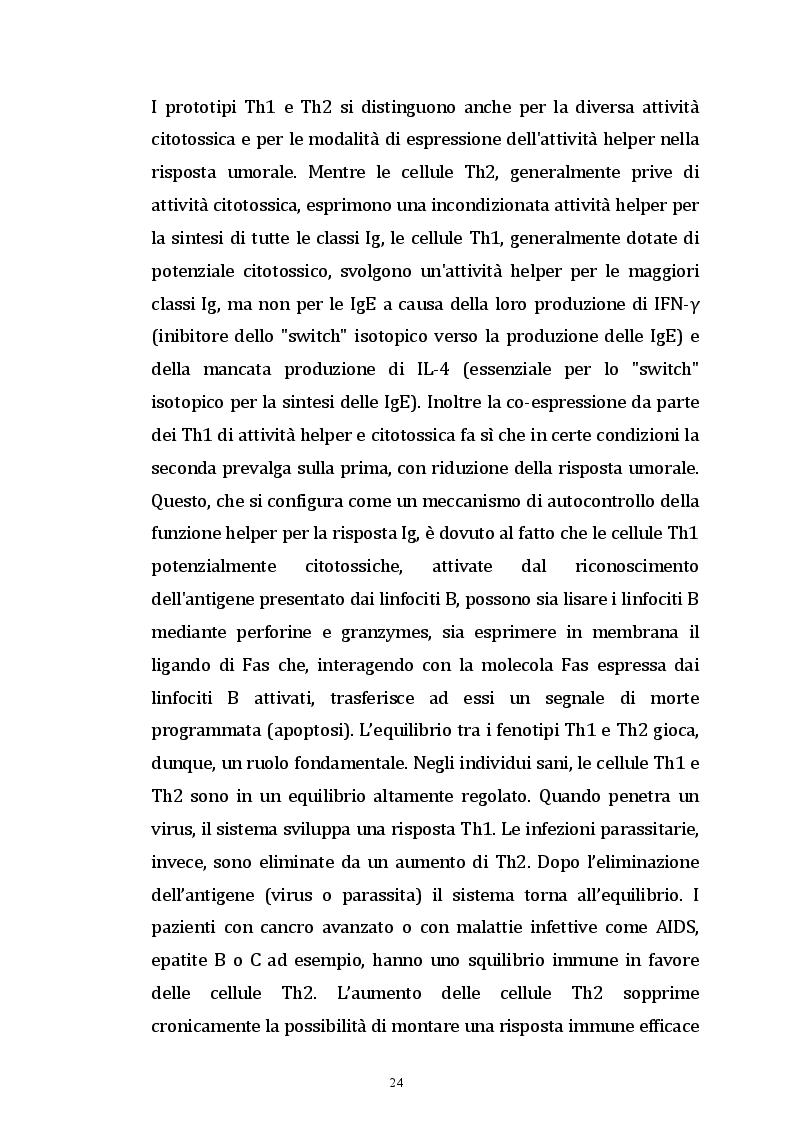 Estratto dalla tesi: Valutazione dell'autoimmunità nelle patologie neoplastiche.