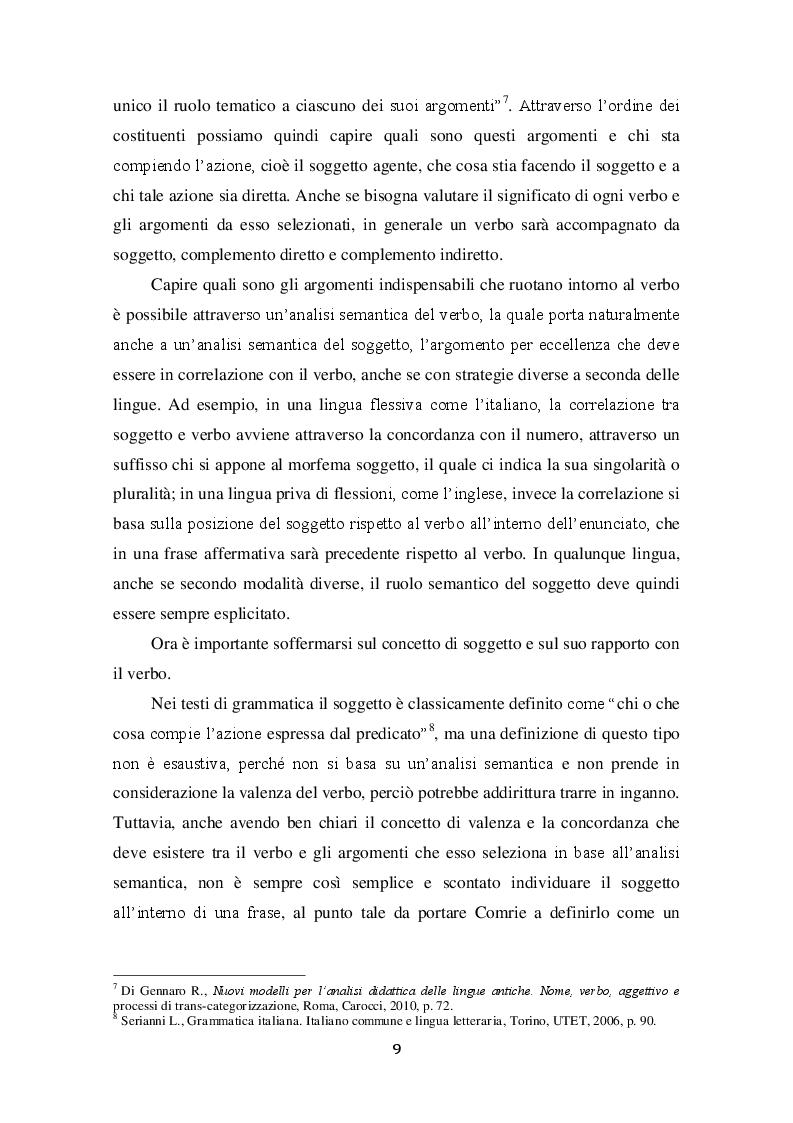 Estratto dalla tesi: L'analisi tipologica: una riflessione sull'organizzazione della lingua attraverso la comparazione interlinguistica.