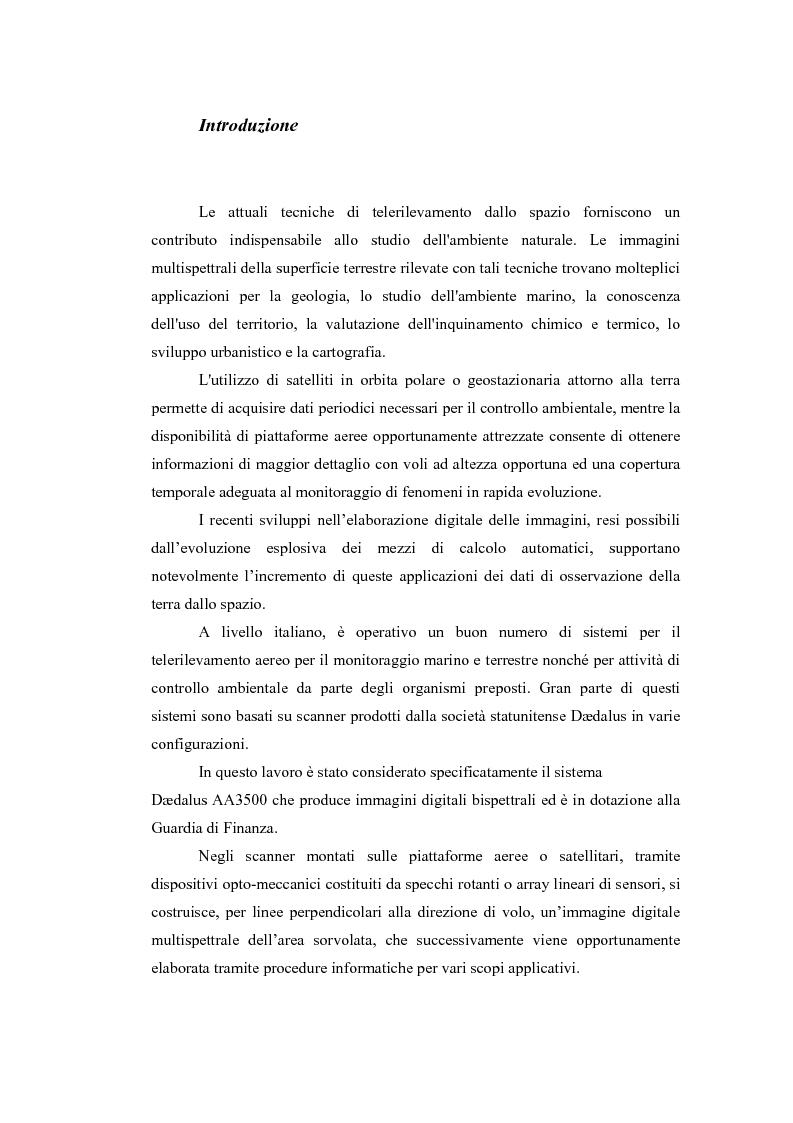 Anteprima della tesi: Correzione geometrica di immagini telerilevate da aereo, Pagina 1