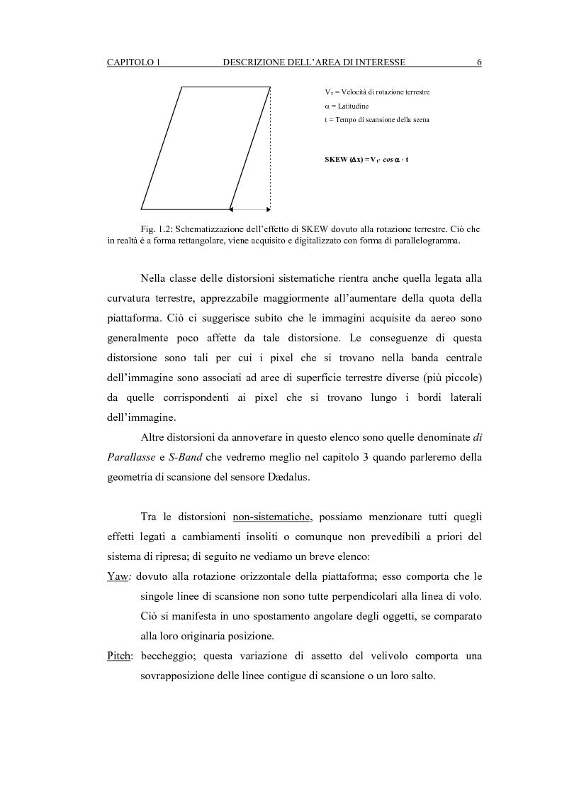 Anteprima della tesi: Correzione geometrica di immagini telerilevate da aereo, Pagina 10