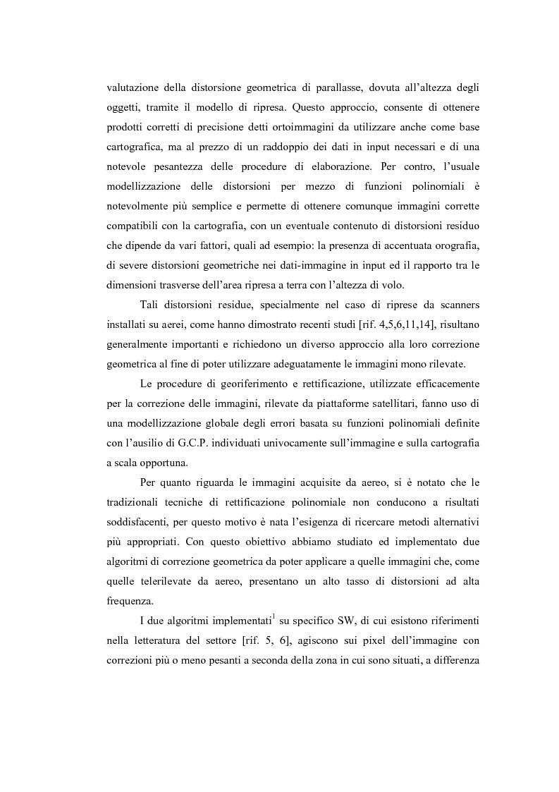 Anteprima della tesi: Correzione geometrica di immagini telerilevate da aereo, Pagina 3