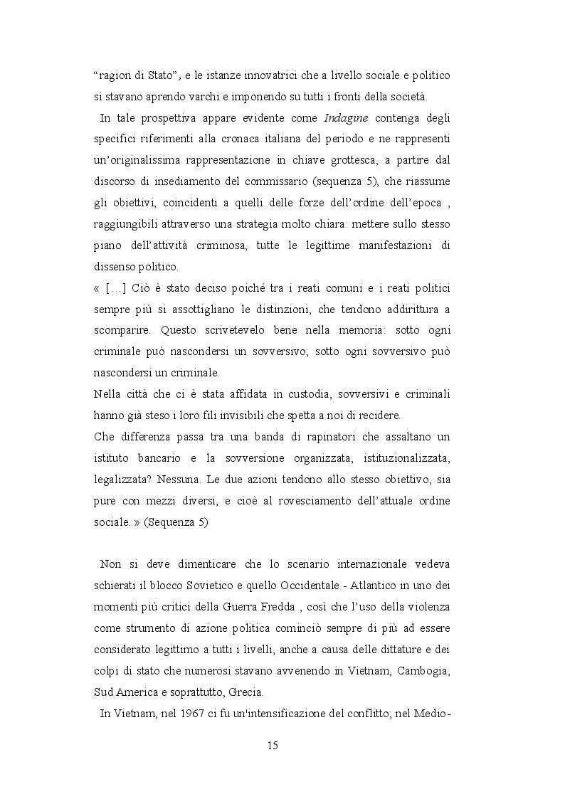 Estratto dalla tesi: Potere, biopolitica e sessualità in ''Indagine su un cittadino al di sopra di ogni sospetto'' di Elio Petri (Italia, 1970)