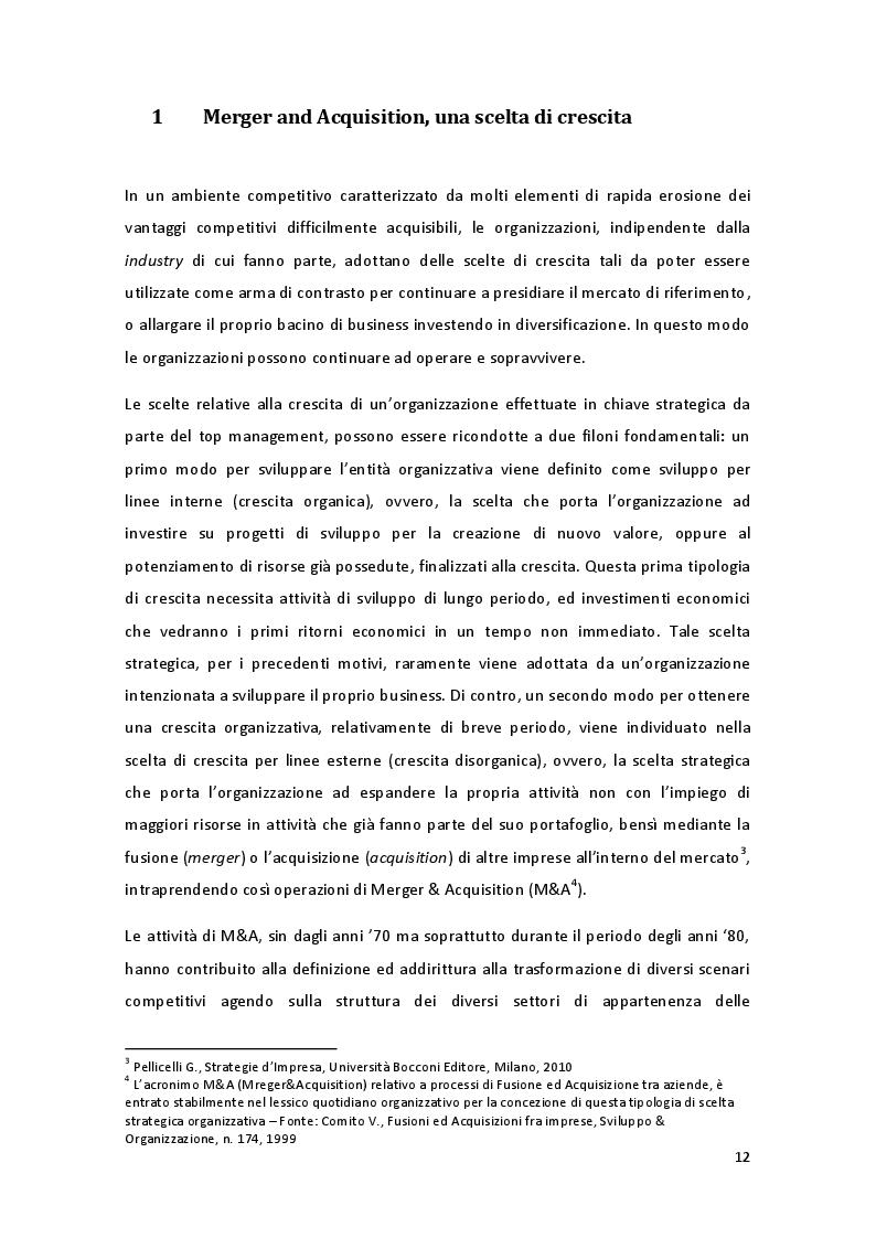 Estratto dalla tesi: La performance organizzativa post-M A nel settore Fashion Luxury: il ruolo della funzione HR - il caso OTB -