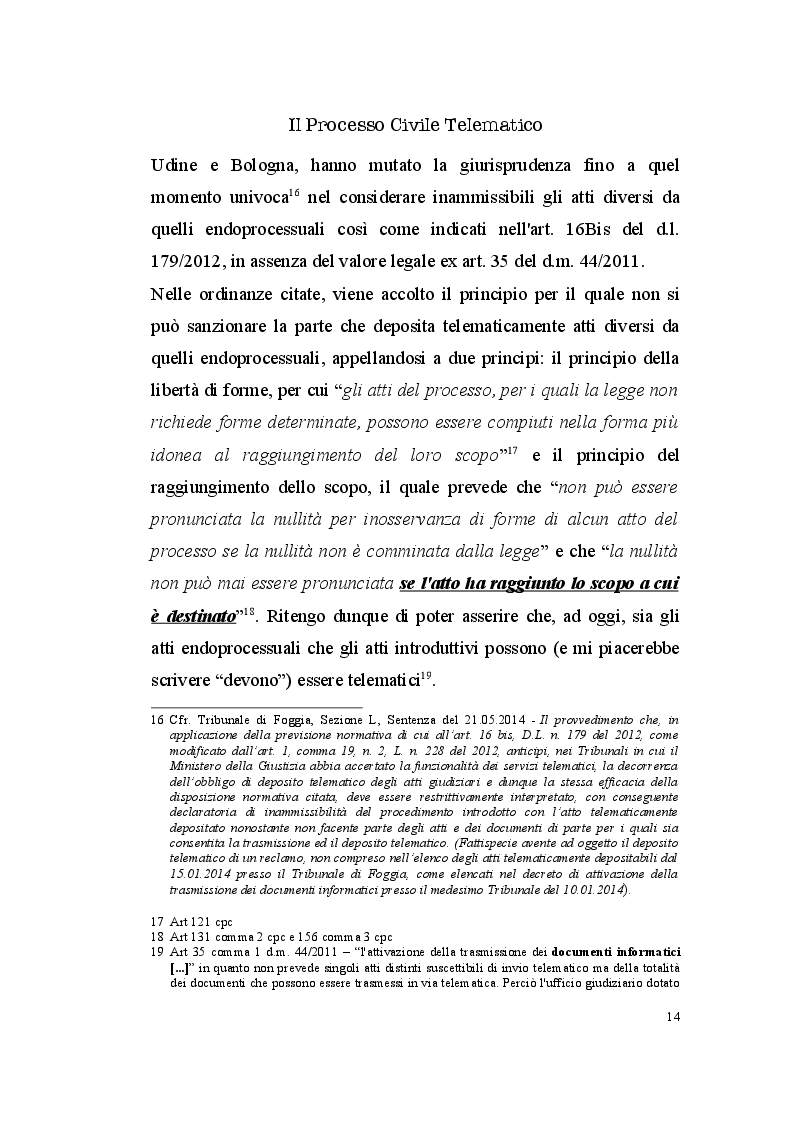 Estratto dalla tesi: Il Processo Civile Telematico: aspetti normativi e profili informatico-giuridici