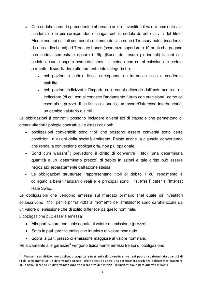 Estratto dalla tesi: L'emissione di Minibond in una media impresa. Il caso di Sea S.p.a.