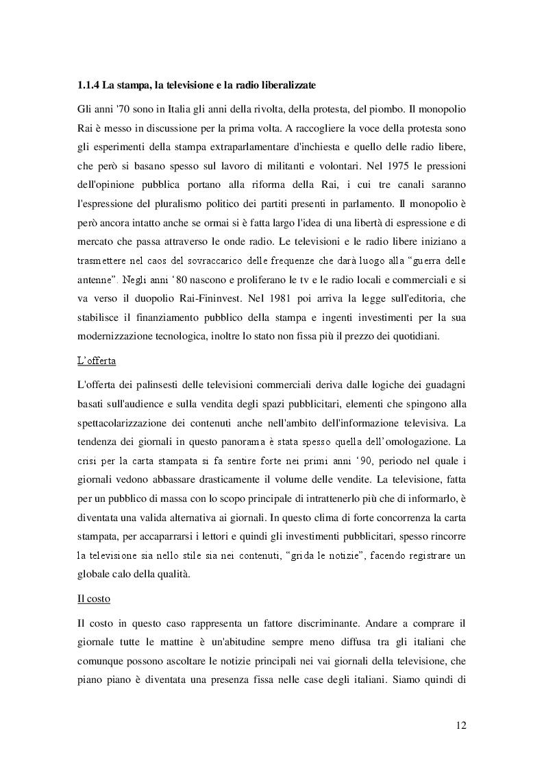 Estratto dalla tesi: La rivoluzione digitale e la crisi del giornalismo in Italia. Analisi di un fenomeno mediale ed esistenziale