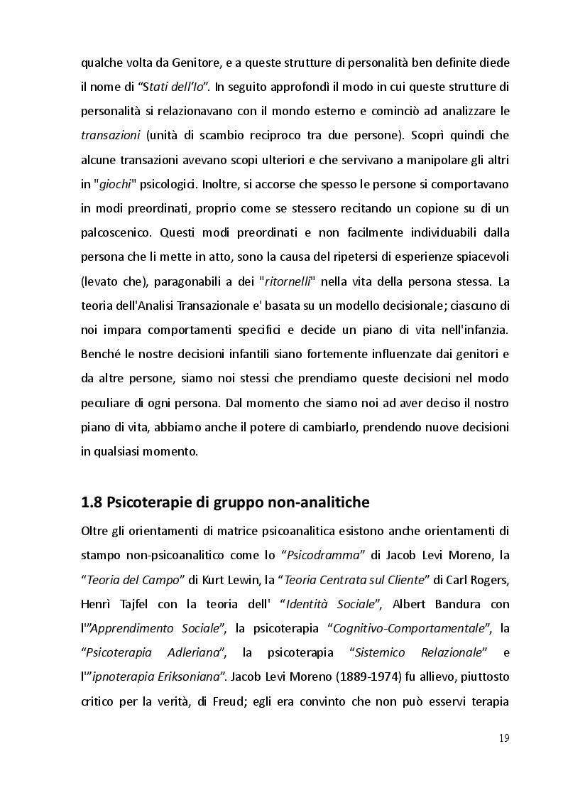 Estratto dalla tesi: Psicodramma: storia, metodologie ed i primi contatti formativi
