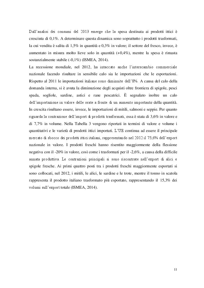 Estratto dalla tesi: Igiene e commercializzazione dei prodotti della pesca freschi e congelati