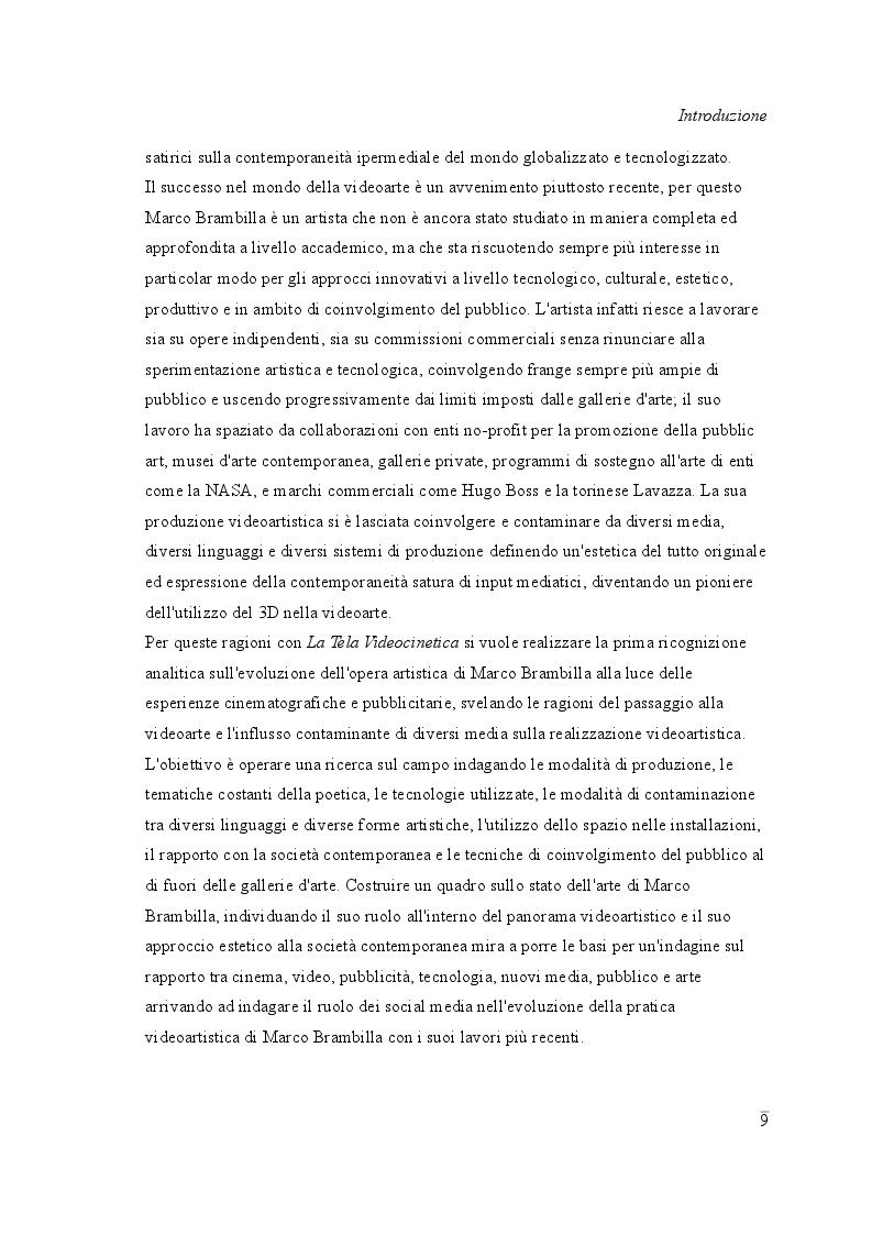 Anteprima della tesi: La Tela Videocinetica, Pagina 3