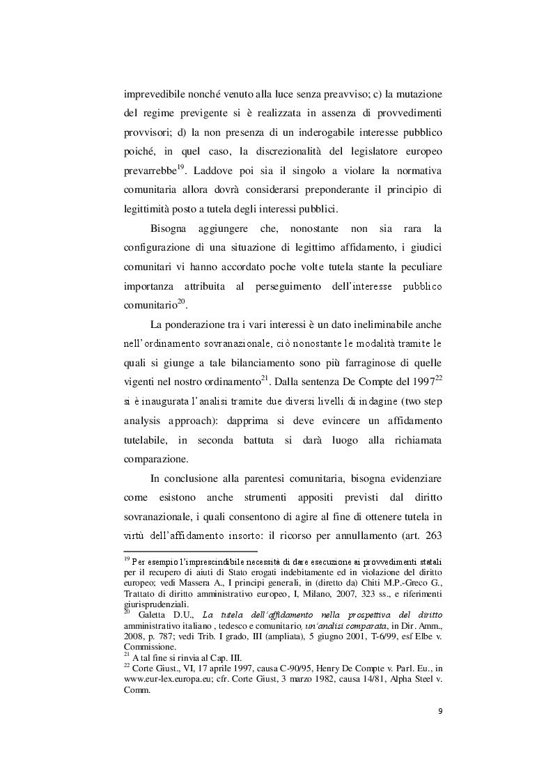 Estratto dalla tesi: Il legittimo affidamento: i limiti all'annullamento e alla revoca.