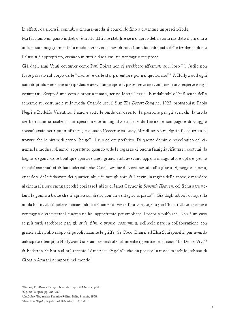 Anteprima della tesi: SCREENING FASHION - Il potere della moda sul grande schermo, Pagina 5