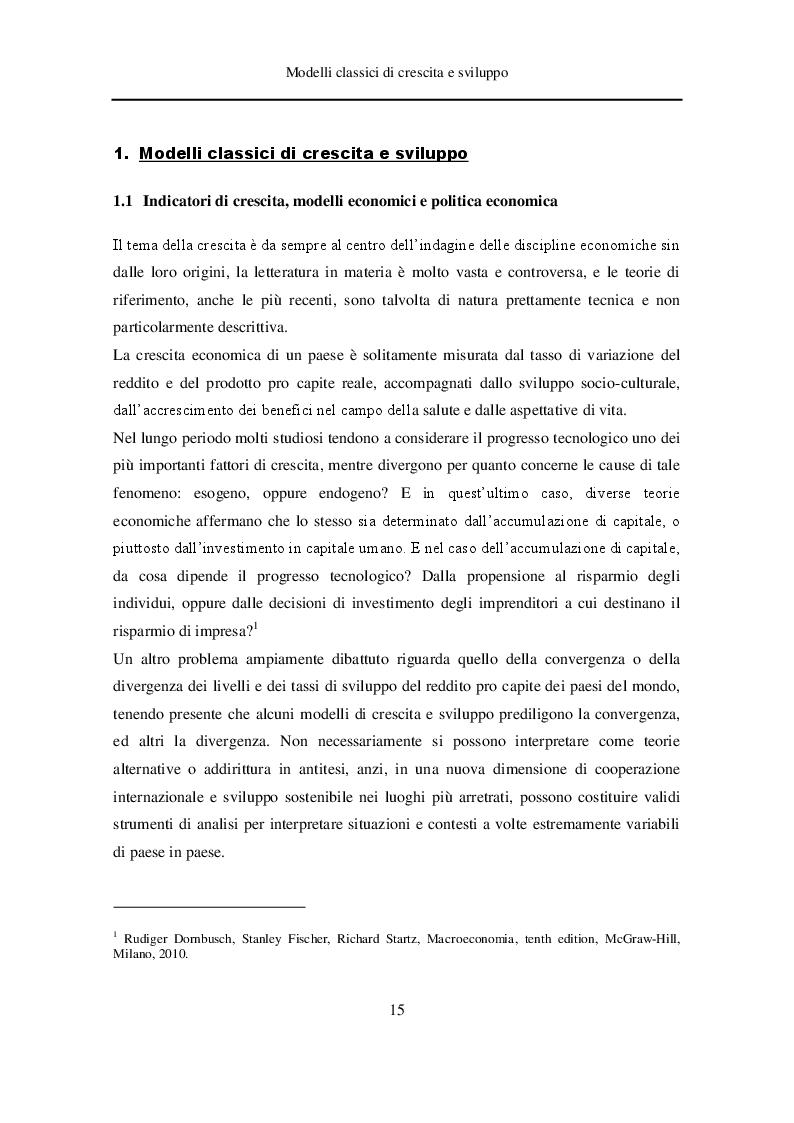 Estratto dalla tesi: Analisi dei modelli di crescita economica e nuove teorie sulla decrescita serena e sviluppo sostenibile