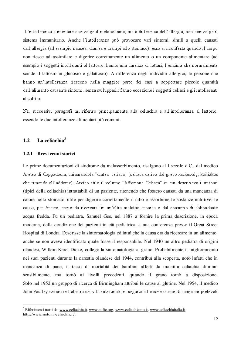 Estratto dalla tesi: Comunicazione d'impresa e intolleranze alimentari: la percezione del consumatore