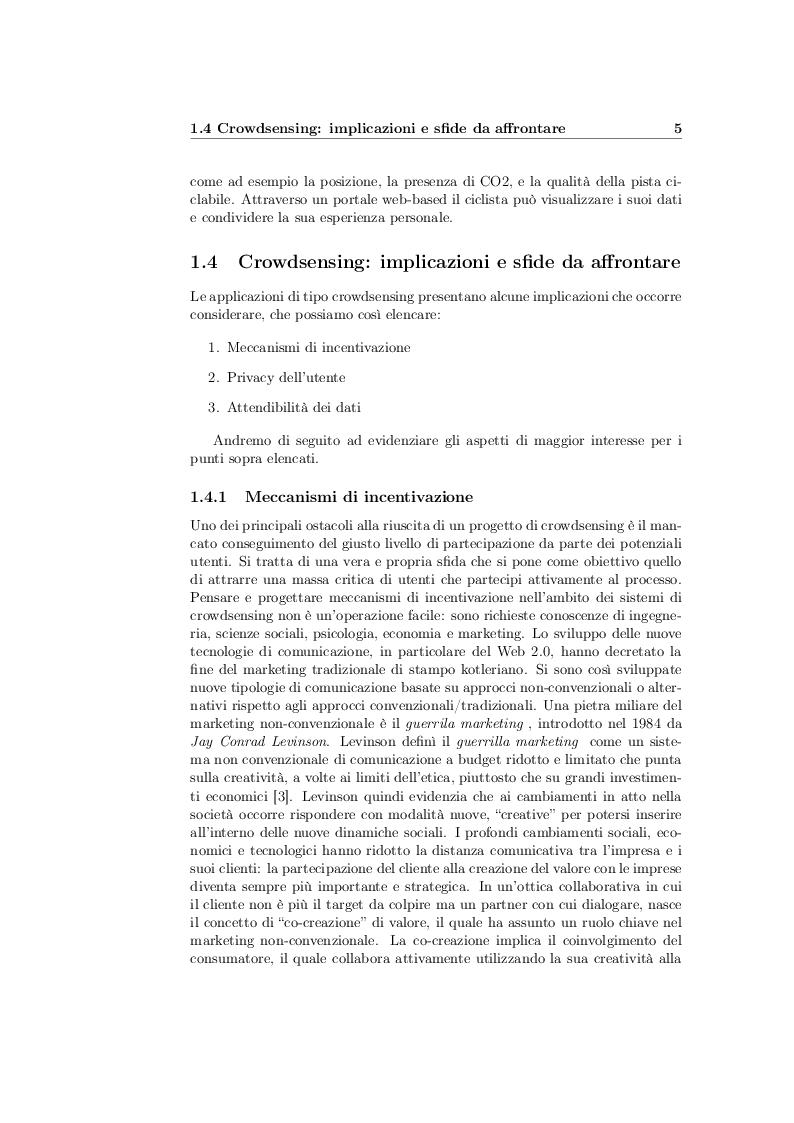 Estratto dalla tesi: Crowdsensing di parametri percettivi