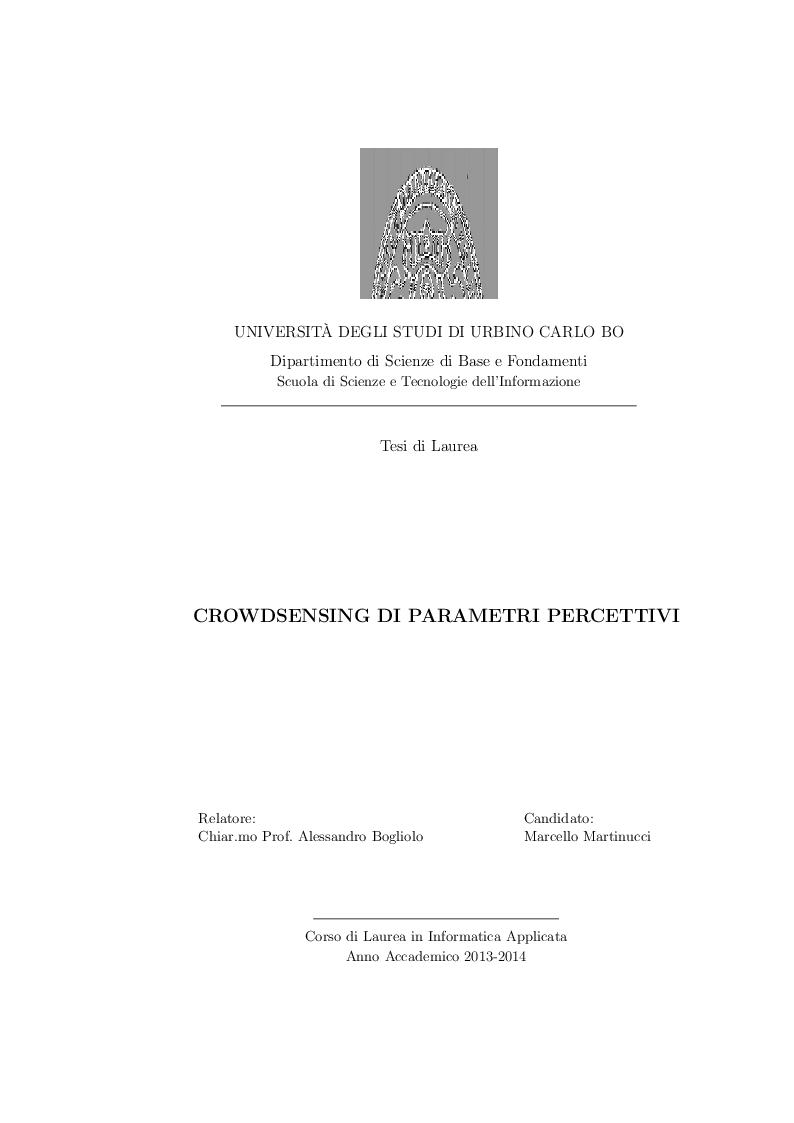 Anteprima della tesi: Crowdsensing di parametri percettivi, Pagina 1