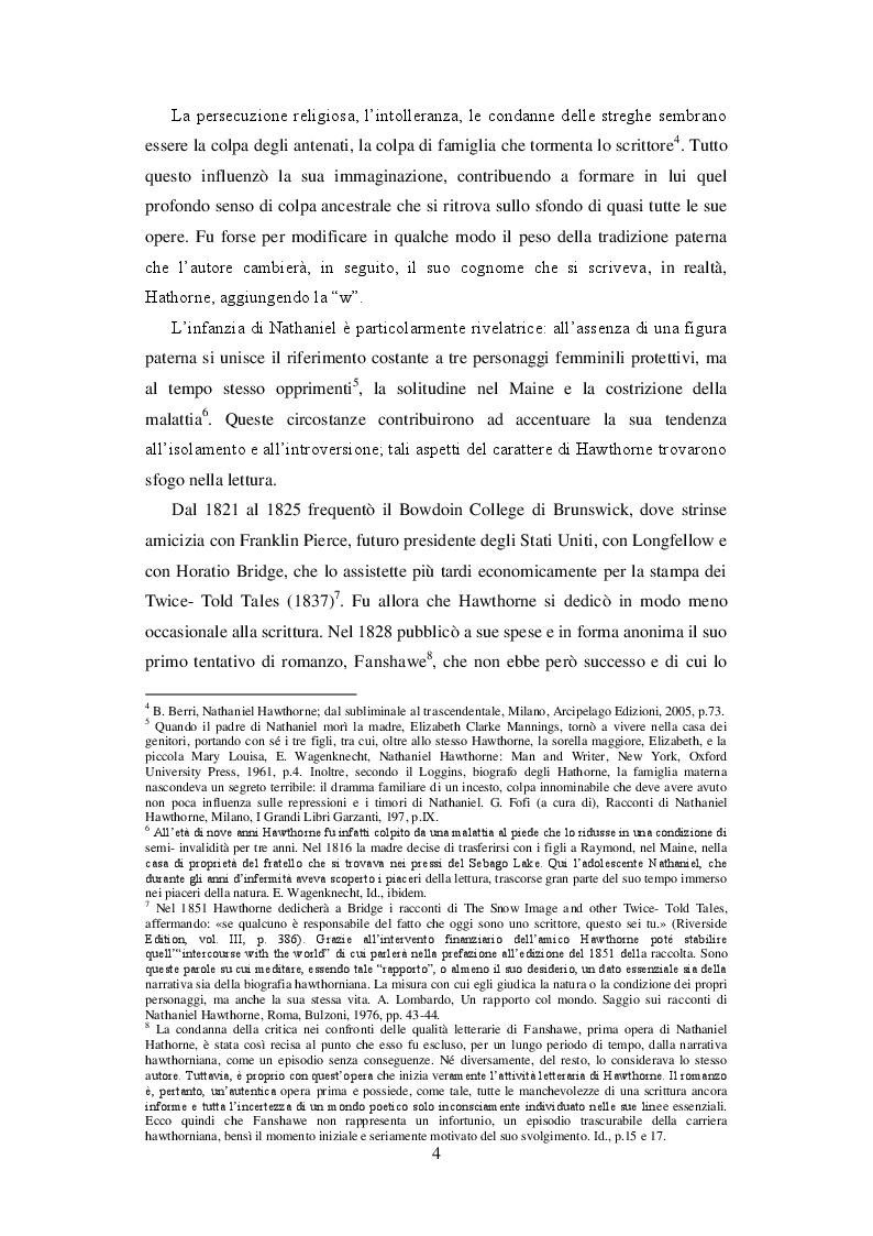 Anteprima della tesi: L'immagine riflessa: il ritratto e lo specchio nella narrativa di Nathaniel Hawthorne, Pagina 4