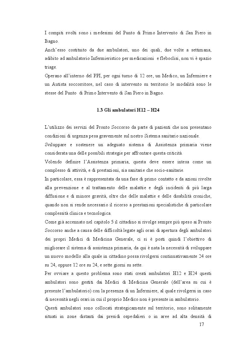Estratto dalla tesi: TRASFORMAZIONI IN ATTO: integrazione tra ospedale e territorio per la diminuzione degli accessi impropri in Pronto Soccorso