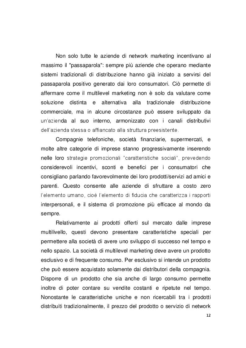 Estratto dalla tesi: Analisi Economico-Aziendale di un'impresa orientata al Network Marketing. Il caso Herbalife