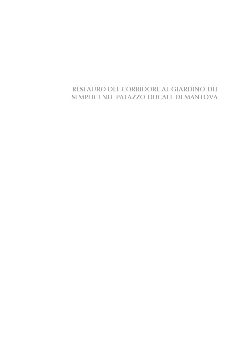 Anteprima della tesi: Restauro del Corridore al Giardino dei Semplici nel Palazzo Ducale di Mantova , Pagina 1
