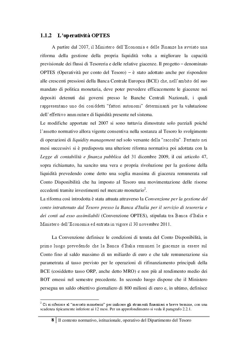 Estratto dalla tesi: Analisi del mercato repo dei Titoli di Stato italiani in un'ottica di impiego per la liquidità del Tesoro