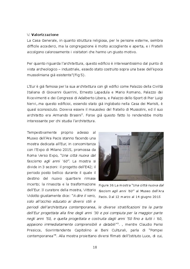 Estratto dalla tesi: Casa Generale dei Fratelli Maristi all'Eur a Roma