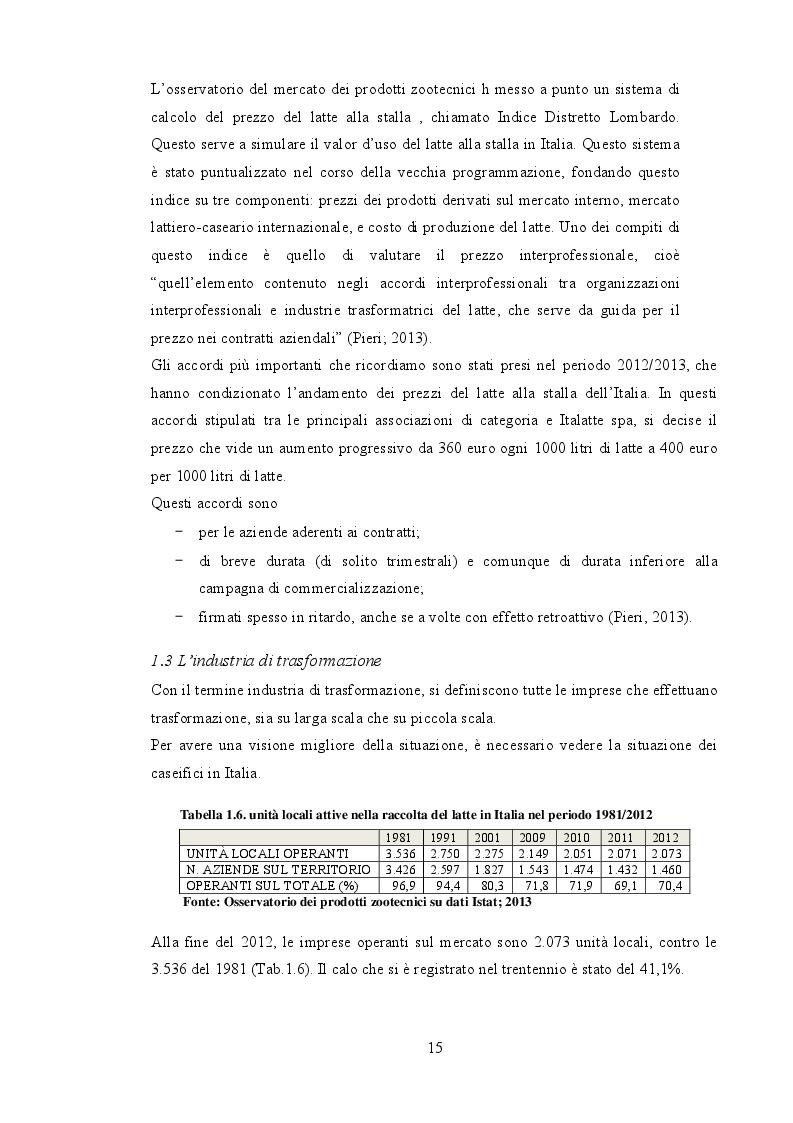 Estratto dalla tesi: Valutazione tecnico economica della trasformazione dell'ordinamento produttivo di un'azienda da latte in Umbria con analisi della filiera del latte