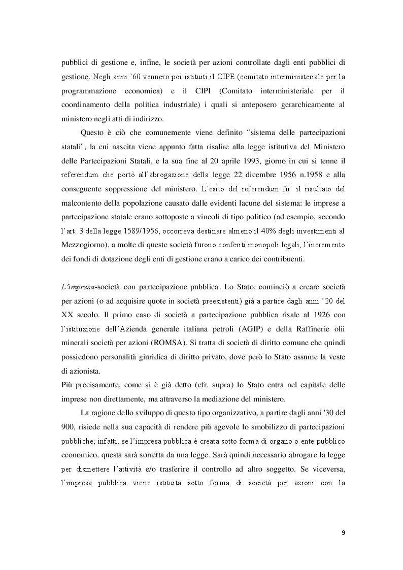 Estratto dalla tesi: Società a partecipazione pubblica e procedure concorsuali