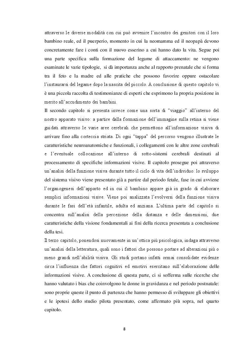 Anteprima della tesi: Maternità e bias percettivi: uno studio pilota sulla percezione degli stimoli visivi nelle madri, Pagina 3