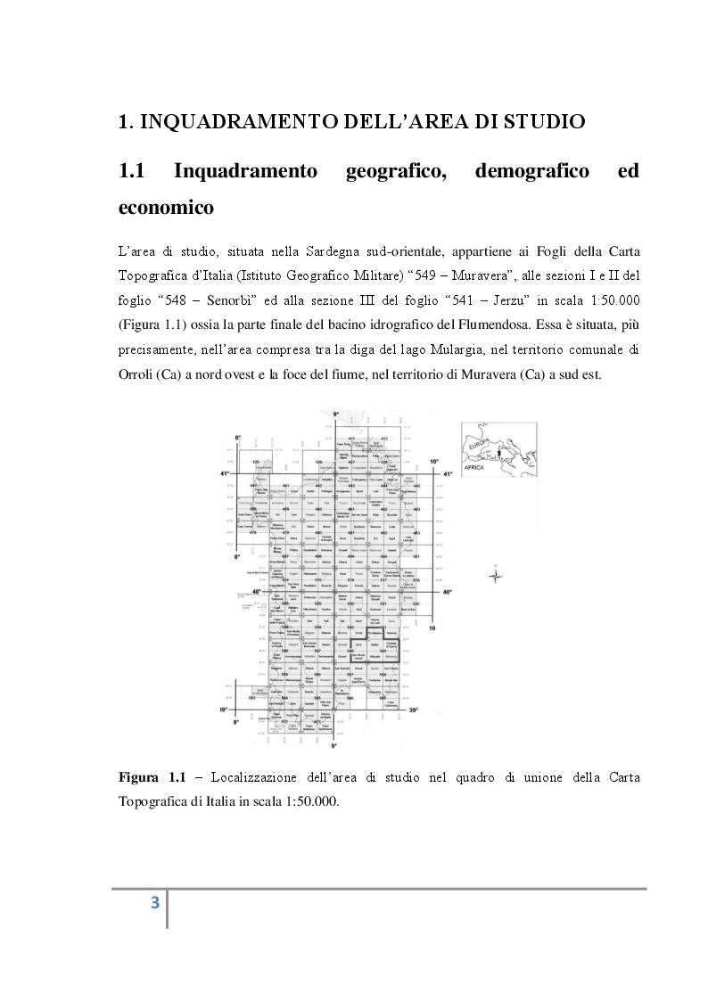 Anteprima della tesi: Analisi territoriale e valorizzazione delle risorse ambientali e culturali dell'area del bacino del basso Flumendosa., Pagina 4
