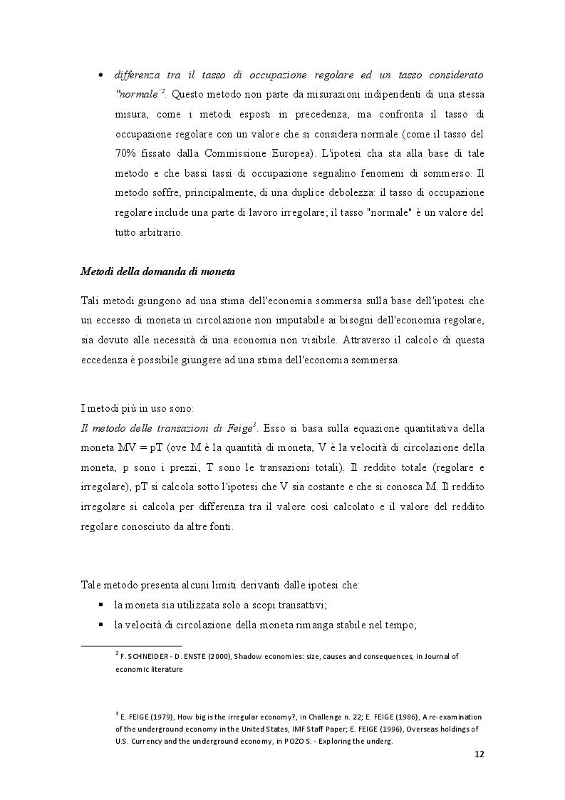 Estratto dalla tesi: Economia sommersa e lavoro nero nel settore alberghiero: il caso di Rimini
