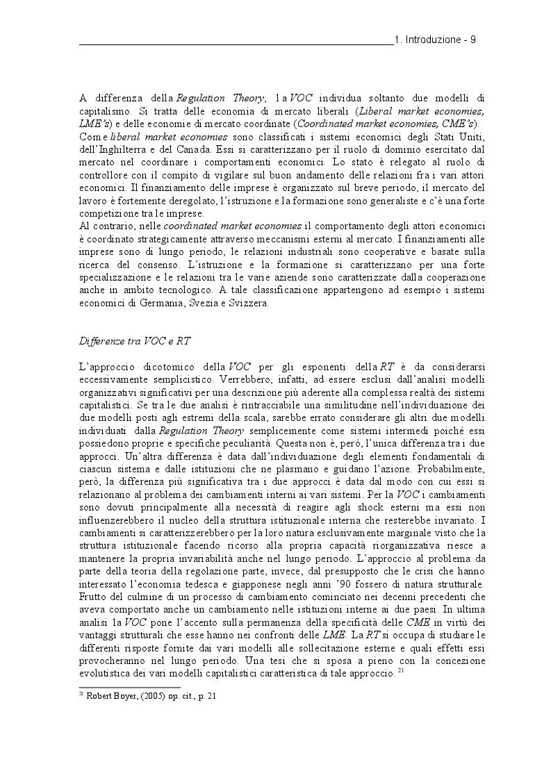 Estratto dalla tesi: Il dibattito sulla convergenza e le riforme Hartz.  Quali prospettive per la Soziale Marktwirtschaft?