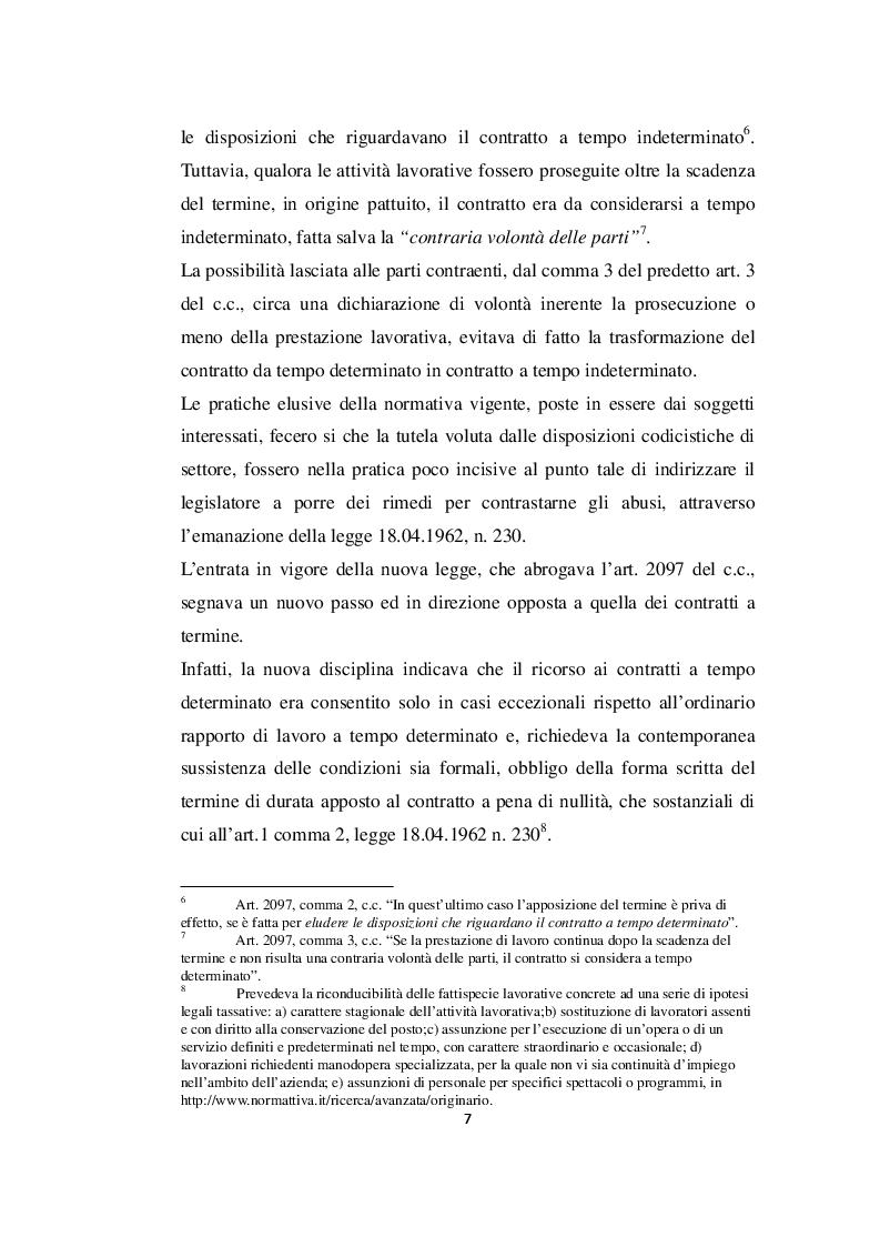 Estratto dalla tesi: Contratto di lavoro subordinato a tempo determinato dopo la liberalizzazione