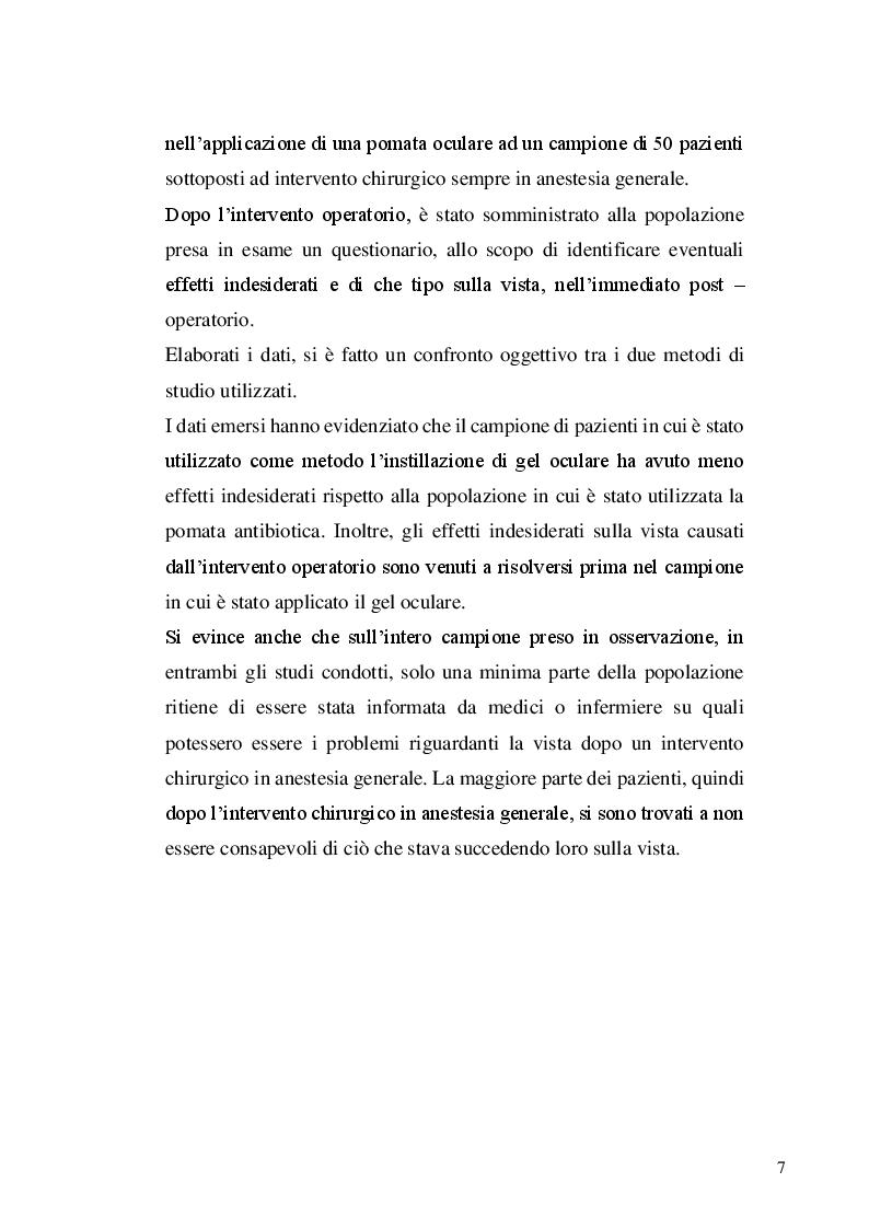 Anteprima della tesi: La protezione oculare nel paziente in anestesia generale: confronto tra due strategie preventive, Pagina 3