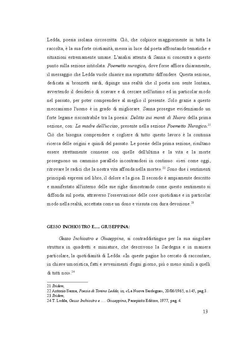 Estratto dalla tesi: Tonino Ledda, dai primi componimenti al premio Città di Ozieri, La Nuova Sardegna racconta
