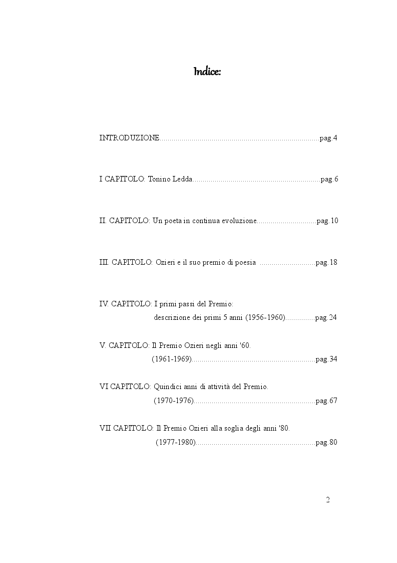 Indice della tesi: Tonino Ledda, dai primi componimenti al premio Città di Ozieri, La Nuova Sardegna racconta, Pagina 1