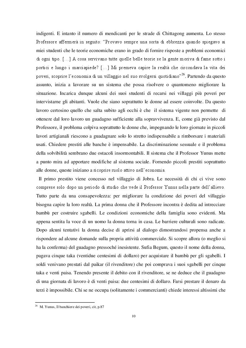 Estratto dalla tesi: L'evoluzione della finanza etica: dai Monti di Pietà al microcredito oggi