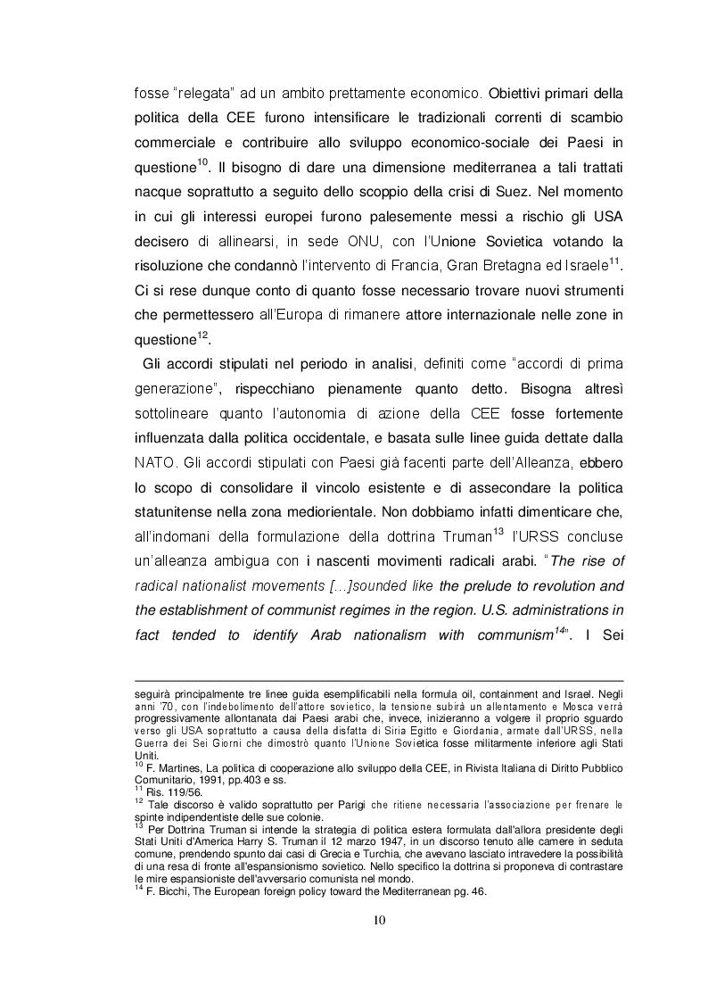 Estratto dalla tesi: Europa e Mediterraneo. Dal Trattato di Roma al Partenariato per la Democrazia e la Prosperità Condivisa con il Mediterraneo meridionale. I casi dell'Autorità Palestinese e dello Stato d'Israele